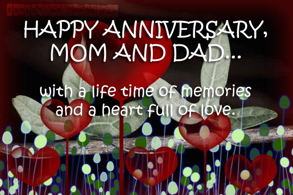 Happy Anniversary Mum Amp Dad Card And Saying SMS